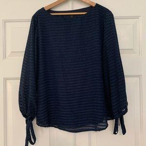 Banana Republic - Navy blue tunic blouse Petite L